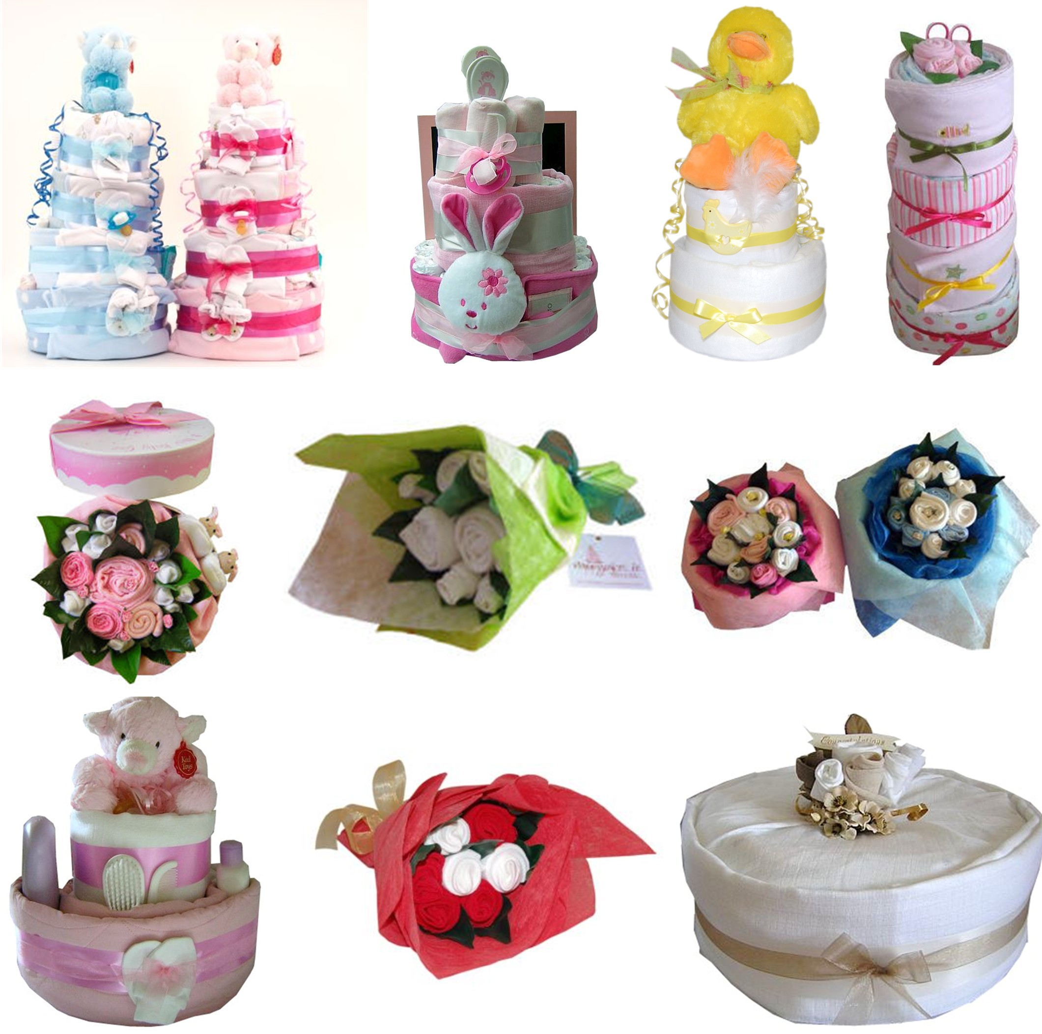 Baby Gifts Delivered Ireland : Nappy cake baby gifts free shipping on selected